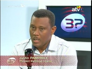 -3 question à- sur ATV avec M  Justin PAMPHILE, président Initiative MartiniqueInitiative Martinique (1)