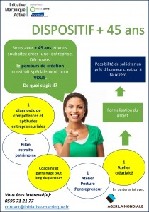 affiche A3 dispositif plus 45 ans